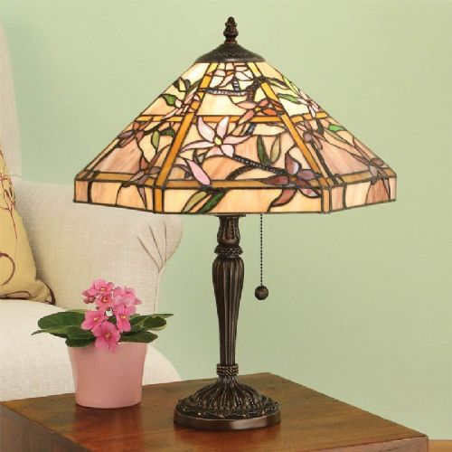 Clematis Table Lamp (Nature, Medium Table Lamp) T047TR (Tiffany style)